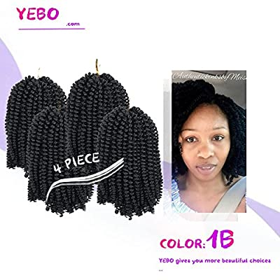 4 pack spring twist crochet braiding hair Ombre Colors Synthetic Hair Extension