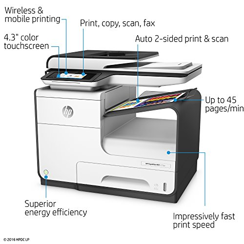 HP 377dw PageWide Pro Color All-in-One Business Printer Wireless & 2-Sided Duplex Printing