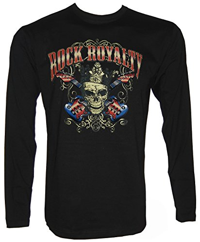 Rock Royalty Skull Langarm T-Shirt