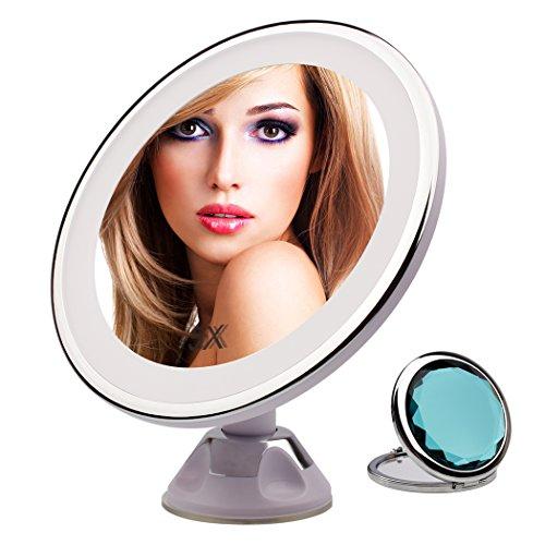 LED Makeup Mirror - 5x Magnifying Makeup Mirror with Lights bb9637658