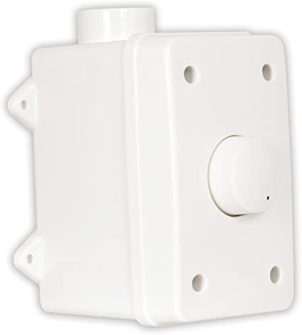 Theater Solutions OVCDW Outdoor Speaker Volume Control White Weatherproof  Dial Switch