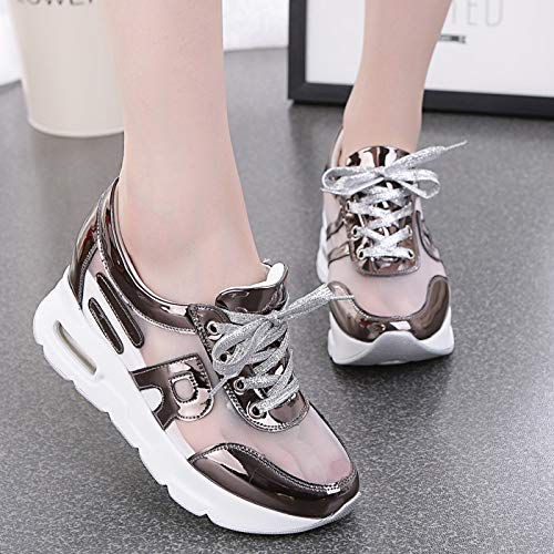 Color Thirty Ladies' Inside KPHY Gauze Leisure Rocking Shoe Six Gauze Sole Single Heighten Shoes Thick Robbing 7wSx7nq6v