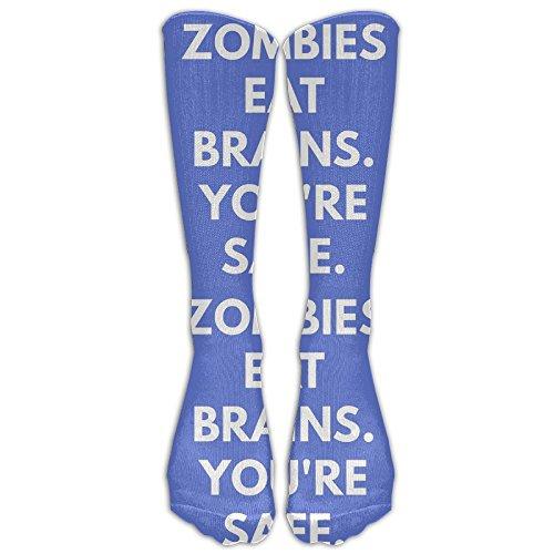 Swr3rt4t Unisex Zombies Eat Brains Soccer Warm Crochet (Zombie Soccer Player Halloween)
