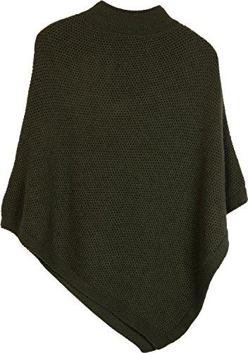 styleBREAKER - Poncho - capa - Básico - para mujer verde oliva