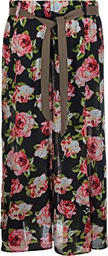 Damen Sommer Kleid mit Blumenmuster, Viskose, elastischer Bund mit Gürtel,  Gürtel 35 - 6b22df6496