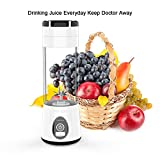 4 pc blender - Portable Blender Mini Travel Juice Cup,Bbtops Fruit Mixer Personal Size Battery Operated Juicer Cup USB Charging Sport Juice Maker, Shakes and Smoothies Blender 380ml-White