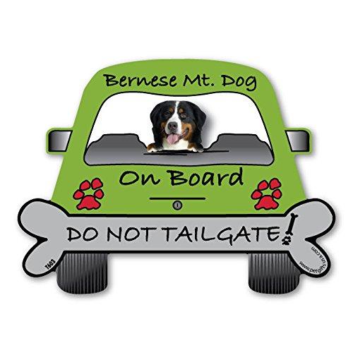 Bernese Mountain Dog On Board - Do Not Tailgate Car Magnet (Dog Car Mountain Bernese)