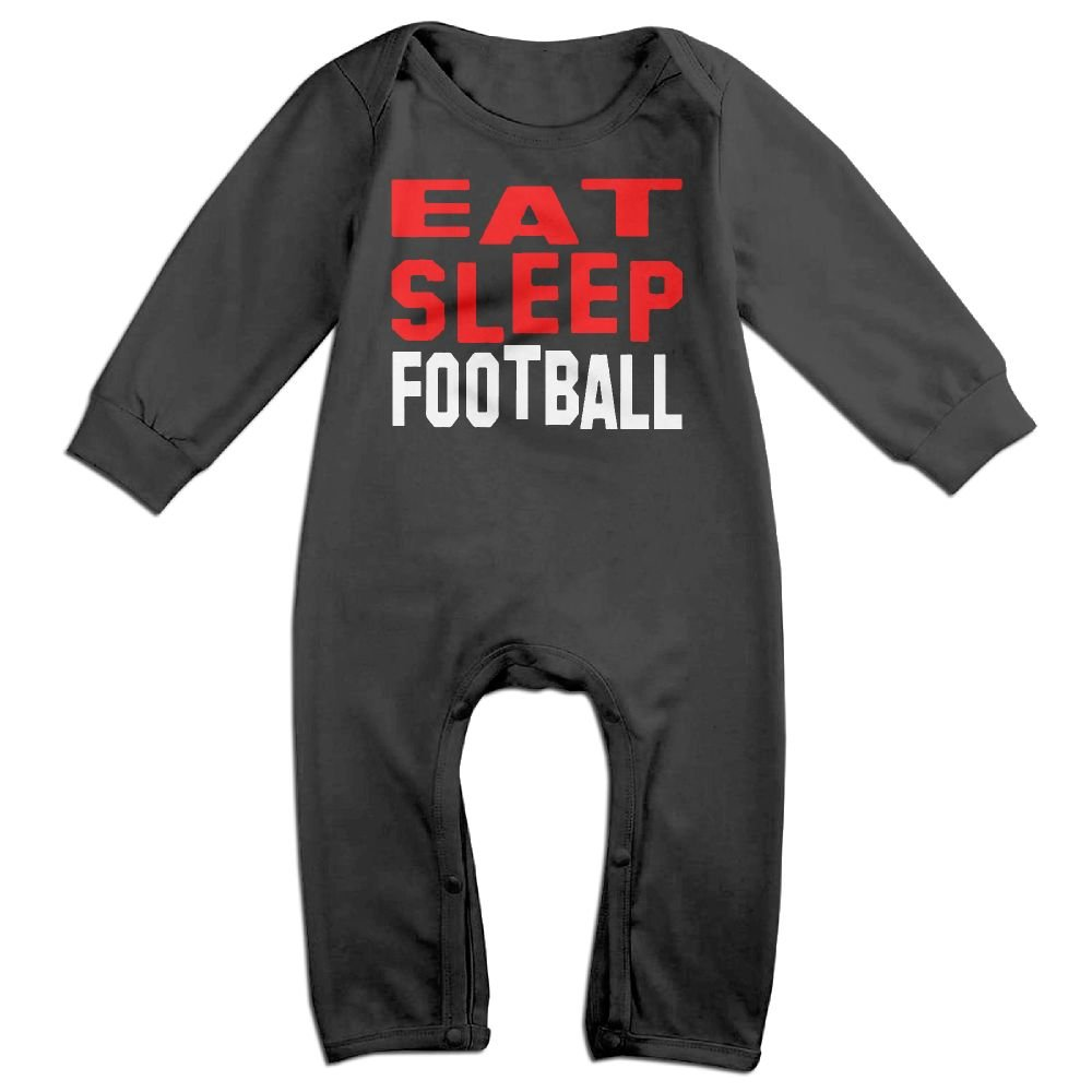 UGFGF-S3 Eat Sleep Football Long Sleeve Infant Baby Unisex Baby Bodysuit 6-24 Months Bodysuit by UGFGF-S3 (Image #1)