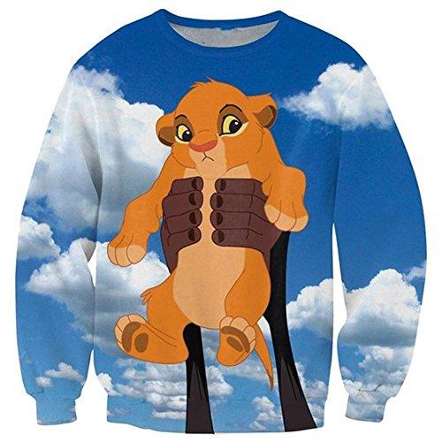 Chiclook Cool Cartoon Sweatshirt Baby Simba The Lion King Casual Outerwear Hoody