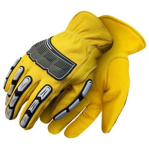 Bob Dale 20-9-10695-M Grain Driver Glove with Back Hand Protection, C-100 Thiosulfate, Medium, Yellow by Bob Dale