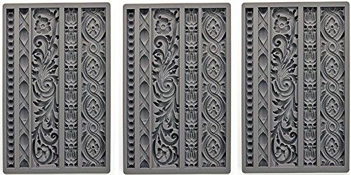 Prima Marketing 655350815325 Iod Vintage Art Decor Moulds- Moulding 1 Iod Vintage Art Decor Moulds -Moulding 1'' (3 Pack) by Prima Marketing