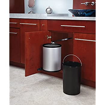 Superieur Rev A Shelf   8 010314 15   15 Liter Stainless Steel Pivot Out Under Sink  Waste Container