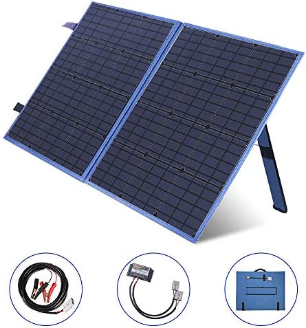 MEGSUN 100W Portable Solar Panel kit 12V Solar Battery Charger with USB Device Charge Controller for Solar Generator,Battery,Camping,RV