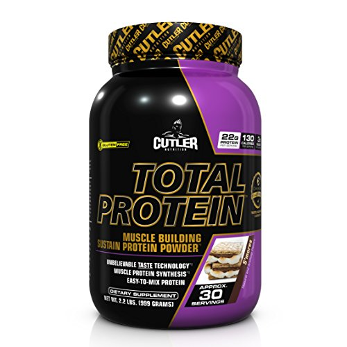 Cutler Nutrition Total Protein Muscle Building Sustain Protein Powder, S'mores, 2.2 Pound by Cutler Nutrition