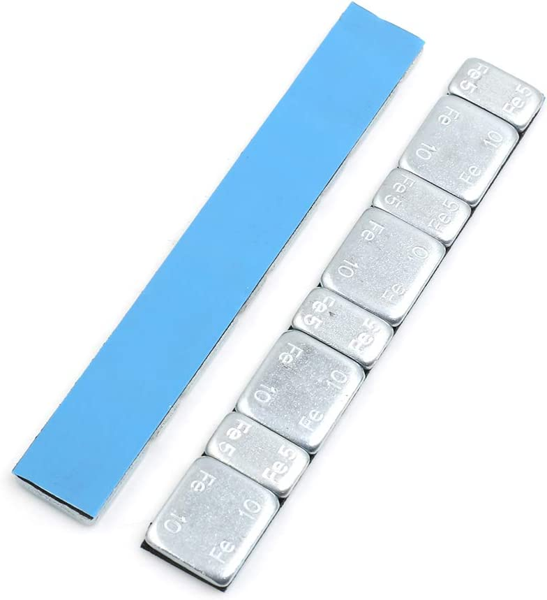 F FIERCE CYCLE 2.1oz Adhesive Back Wheel Balance Weights Strips for Motorcycle 124 x 18mm 2pcs