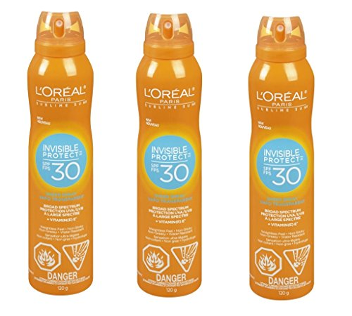 (L'Oreal Alcohol-Free SPF 30 Sunscreen Spray Suntan Lotion Loreal Suncare, 2Pack)