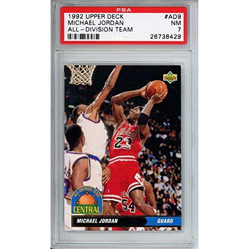 Sports Memorabilia Michael Jordan Chicago Bulls 1992 Ultra All NBA Fleer Trading Card - PSA 7 - Basketball Cards from Sports Memorabilia