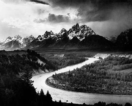 Posterazzi Poster Print Collection Snake River Grand Teton National Park Wyoming 1941 Ansel Adams, (8 x 10), Multicolored