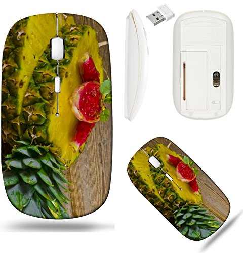 (Liili Wireless Mouse White Base Travel 2.4G Wireless Mice with USB Receiver, Click with 1000 DPI for notebook, pc, laptop, computer, mac book Exotic Salad With Pineapple Figs IMAGE ID 105359)