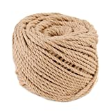 165 Feet Soft Garden Twine,Heavy Duty 3Ply 3mm Jute Twine Thick Packing String Twine Rope Best Arts Crafts Decor Gift Wrapping Twine Christmas Twine