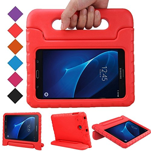 BMOUO Kids Case for Samsung Galaxy Tab A 7.0 - EVA Shockproof Case Light Weight Kids Case Super Protection Cover Handle Stand Case for Kids Children for Samsung Galaxy Tab A 7-inch Tablet - Red