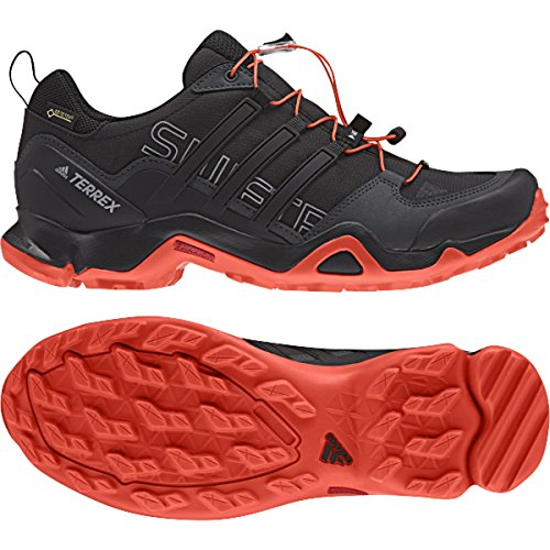 adidas outdoor Men's Terrex Swift R GTX Black/Black/Energy Hiking Shoes - 8.5 D(M) US