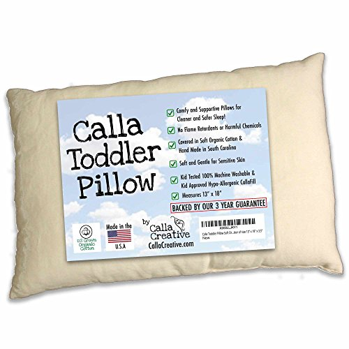"Calla Toddler Pillow Soft Organic Cotton of size 13"" x 18"" x 3.5"""