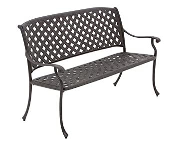 Groovy Rimini Cast Aluminium Garden Bench Amazon Co Uk Garden Gmtry Best Dining Table And Chair Ideas Images Gmtryco