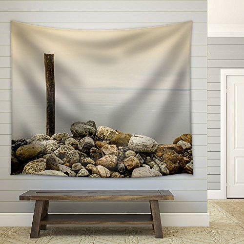 Wood on the Stone Shore Fabric Wall
