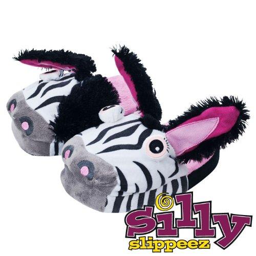 Silly Slippeez - Zanny Zebra - Glow in the Dark - XL (80-78751-XL) -