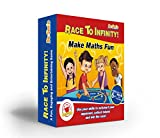 Maths Games for kids, KS2, KS1, KS3 – RACE TO INFINITY- FUN Math Board Game with dice, for Children to increase Confidence – Perfect for Practising Times Tables, Addition and Subtraction, Multiplication and Division- Great for age 6,7,8,9,10,11,12,13 Year Olds, Primary & Secondary School, Teenagers, Teachers, even Adults. Game for both Maths Whizzes and Maths-Phobics - The #1 Way to Do Maths Practice With Your Child Easily without Stress-Get it Now at Great This Pricing Before They're all Gone!
