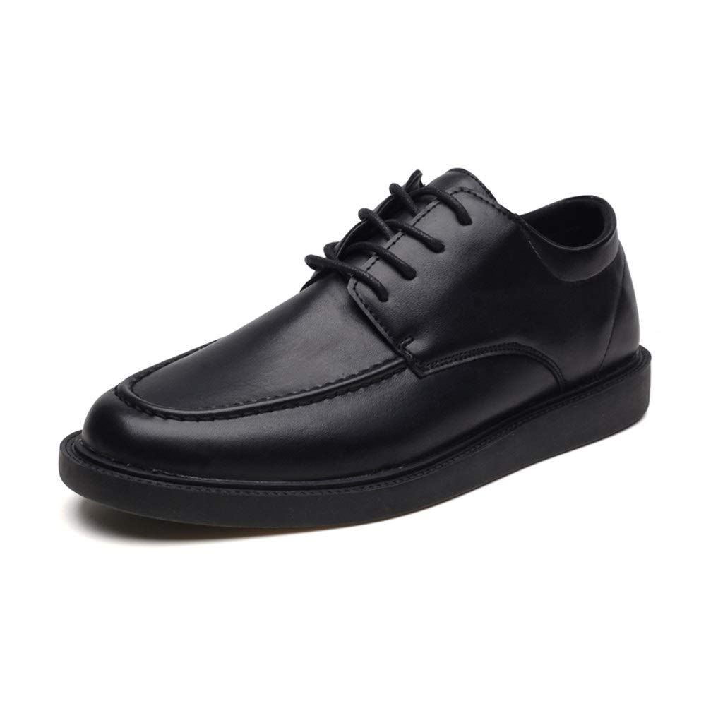 Shufang-shoes Mens Casual Comfortable Stitching Lace-up Fashion Oxford Patent Leather Formal Shoes