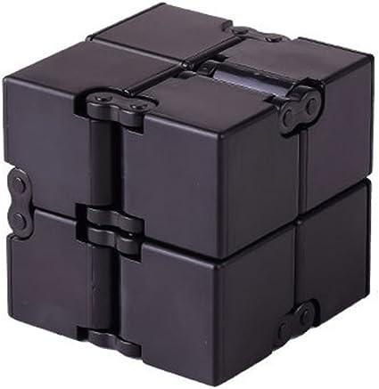 Luxury EDC Black Plastic Infinity Fidget Cube Toy Focus Stress Anxiety Relief