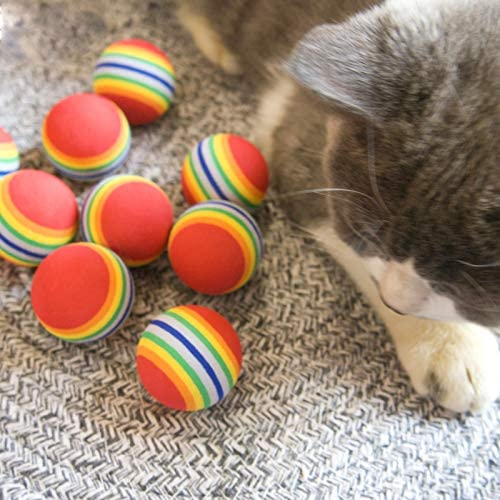 M JJYPET Cat Toys Kitten Toys Assortments,Crinkle Balls for Cat,Kitty,Kitten 6