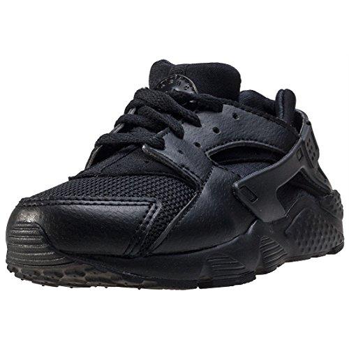 Nike Huarache Run Kids Trainers Black Black - 10 UK by NIKE