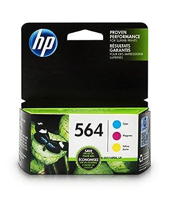 HP 564 Ink Cartridges Color, 3 Cartridges (CB318WN CB319WN CB320WN) for HP Deskjet 3520 3521 3522 3526 Officejet 4610 4620 4622 Photosmart 5510 5515 5520 5525 6510 6515 6520 6525 7510 7515 7520 7525…