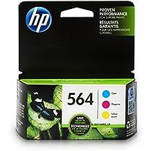 HP 564 Cyan, Magenta & Yellow Original Ink Cartridges, 3 Pack For HP Deskjet 3520, 3521, 3522, 3526 HP Officejet 4610, 4620, 4622, HP Photosmart 5510, 5511, 5512, 5514, 5515, …