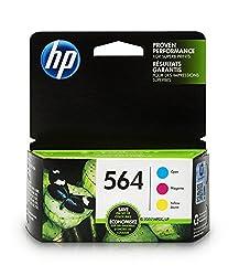 Original HP 564 ink cartridge (N9H57FN) works with: HP Deskjet 3520. HP Officejet 4610, 4620, 4622. HP Photosmart 5510, 5512, 5514, 5515, 5520, 5525, 6510, 6512, 6515, 6520, 6525, 7510, 7515, 7520, 7525, B8550, C6340, C6350, D7560, C510, B209, B210, ...