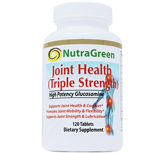 Glucosamine HCI 1500mg MSM Chondroitin Boswellia Hyaluronic Acid Vitamin C & D- NutraGreen all Natural Joint Pain Relief Cartilage Recover, Triple Strength 120 (320 Mg Tab)