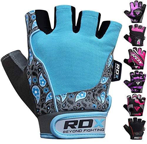 RDX Gym Weight Lifting Gloves Women Workout Fitness Ladies Bodybuilding Breathable Powerlifting Wrist Support Strength Training Exercise