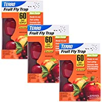 3 Pack Terro T2503-3 Fruit Fly Trap (6 Traps)
