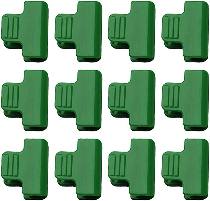 Yardwe 12pcs Greenhouse Clamps Clips Row Cover Netting Tunnel Hoop Clips Shed Film Shading Net Rod Clip for Greenhouses Frame Shelters (12PCS)