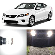 Alla Lighting 2pcs Back-Up Reverse Light Super Bright White LED Bulbs Lamps Replacement for 2001 ~ 2012 Honda Civic Coupe Hatchback only And 2013 ~ 2017 Honda Civic 921 921K W16W 921KX 912