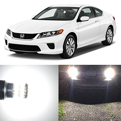 Alla Lighting 2pcs Back-Up Reverse Light Super Bright White LED Bulbs Lamps for 2003 ~ 2012 Honda Accord Coupe Only And 2013 ~ 2017 Honda Accord 921 921K W16W 921KX 912 Honda Accord Sport Coupe