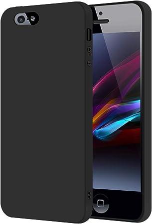 SDTEK Custodia iPhone SE (Nero) Cover Case Bumper Caso Matte Matte ...