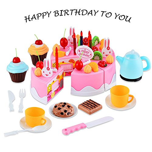 Kids Pretend Play Toys Birthday Cake Childrens Day Gift Food Toy Set DIY COSPLAY Cutting