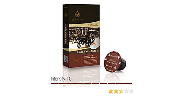 Amazon.com : Gourmesso Lungo Italico Forte by Berlin Coffee Roasters - 100 Nespresso Compatible Coffee Capsules | High Intensity : Grocery & Gourmet Food