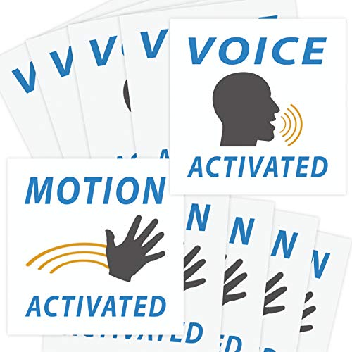 Voice & Motion Activated Prank Stickers, 50 Pack. Make Your Friends Publicly Yell & Vigorously Jazz Hand at Vending Machines & Doors. Hilarious & Unique Practical Joke. Funny Gag Gift for Huge Laughs. -