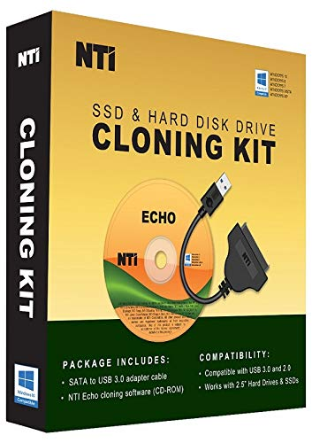 NTI SSD & Hard Disk Drive Cloning Kit [On Sale!] The Best Cloning Software Kit for SSD Upgrade, with USB-to-2.5