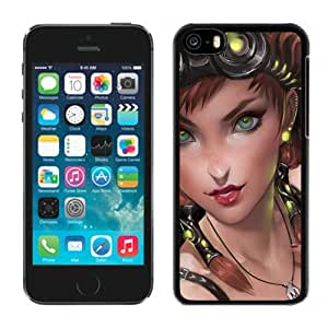 Beautiful And Unique Designed With Girl Eyes Person Neon Luminescence For iPhone 5S Phone Case